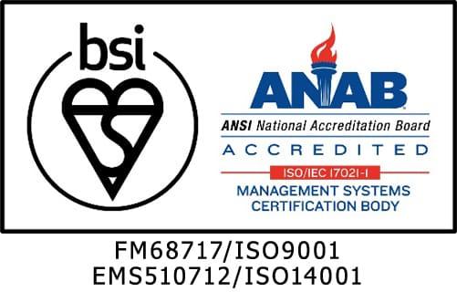 FM68717/ISO9001 EMS510712/ISO14001